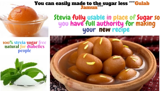 You can easily made to the sugar less ___Gulab Jamun___ (1)